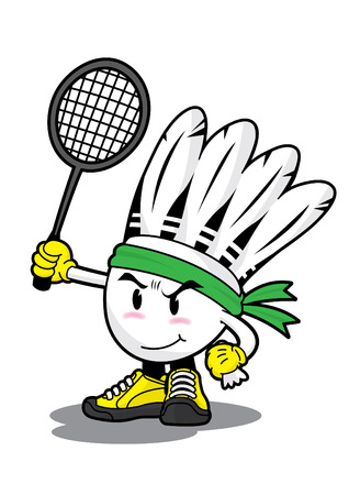 Badminton Federball Cartoon