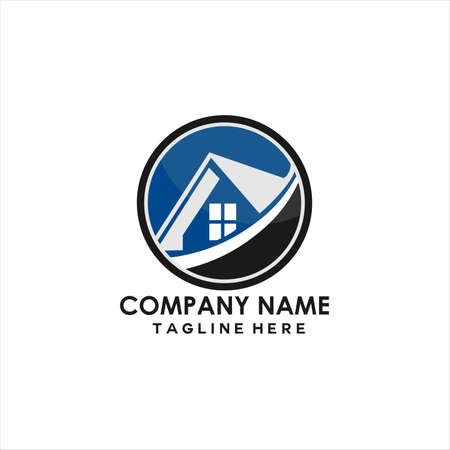 simple vector home icon logo