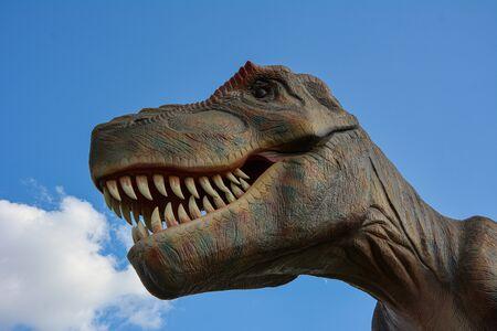 Prehistoric dinosaur living in the park