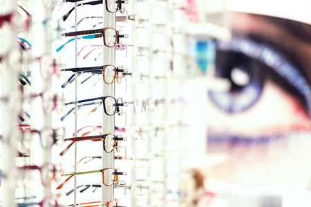 Display with different eye wear model