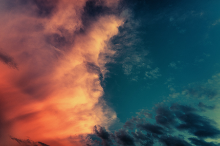 Storm clouds with blue sky background. Nature weather cloud blue sky and sun 版權商用圖片