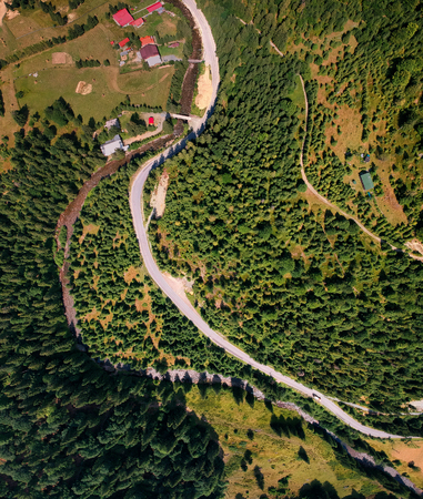 Aerial View of Road on the Mountain perfect for background