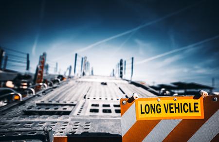 platform of flat bed tow truck Roadside service 版權商用圖片