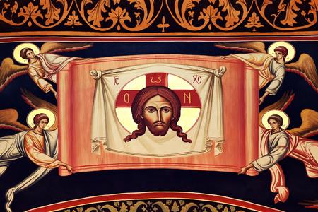 Religious fresco on church walls