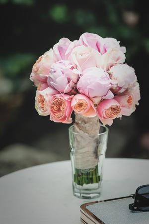 Beautiful wedding bouquet flowers, roses, beautiful bouquet
