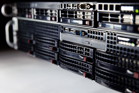 Network servers in a data center background IT