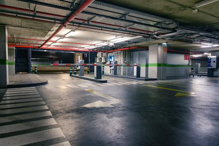Empty underground parking lot industrial