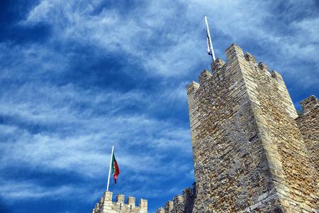 Fortress of Saint George view Lisbon  Portugal (Castelo de Sao Jorge) 新聞圖片