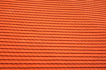 New shingles on an old houses Stock Photo