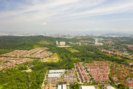 Aerial View of Puchong city landscape, Malaysia