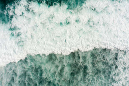 Ocean water surface with waves, aerial view Фото со стока