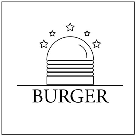 burger line icon