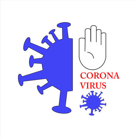 stop corona virus - stock vector