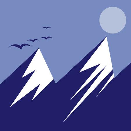 mountain and bat