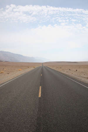 open road: An open road through the desert in Death Valley