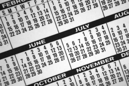 A great background made of a close-up from a pocket calendar. photo