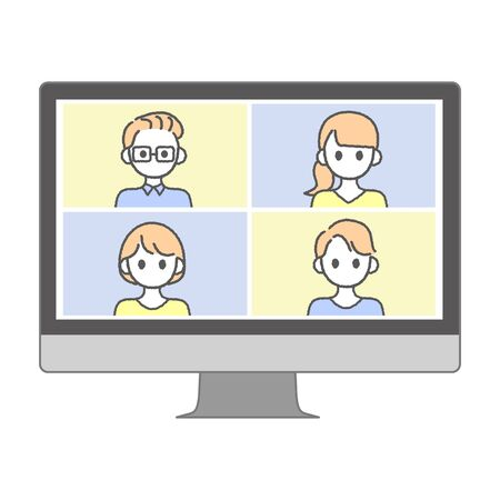 Perform remote work; videophone calls; conferences and meetings using a computer or mobile