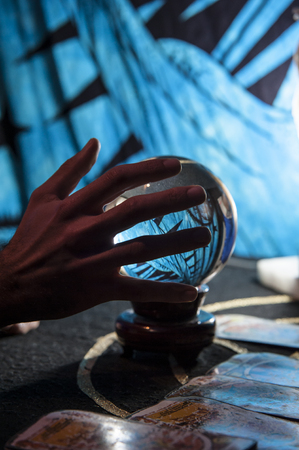 swindler: The necromancer reads the crystal ball and predicts the future