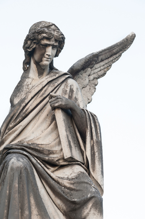 the marble angel, divine symbol of purity and innocence Stok Fotoğraf