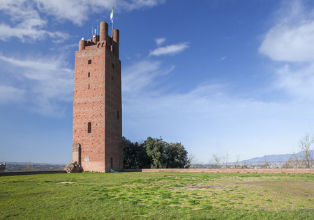 The Tower of Federico, built by Frederick II in the 13th century on the summit of the hill at an elevation of 192 metres (630 ft), overlooking the entire Valdarno.