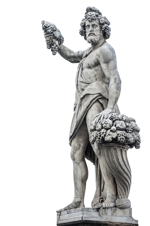 Ancient gods with grapes and horn of plenty