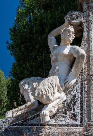 collodi: a faun statue in Villa Garzoni, Pistoia, Italy