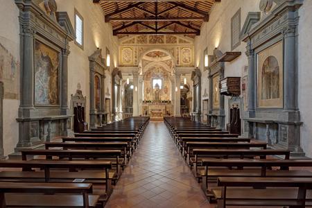 The interior of the church of San Francesco, Castelfiorentino, Italy