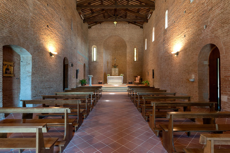 The interiors of the Saint Ippolito and Biagio parish church, Castelfiorentino, Italy Redakční