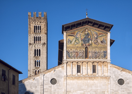 The Basilica of San Frediano is a Romanesque church in Lucca, Italy Stock Photo