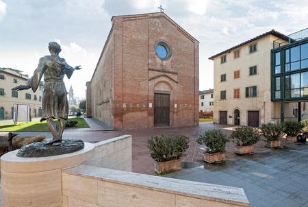 The Gothic church of San Francesco, Castelfiorentino, Italy