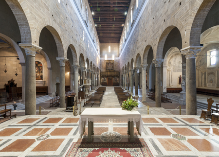 The Basilica of San Frediano is a Romanesque church in Lucca, Italy Editorial