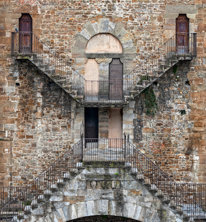 The X shaped stairs of the San Niccol? Gate, in Florence
