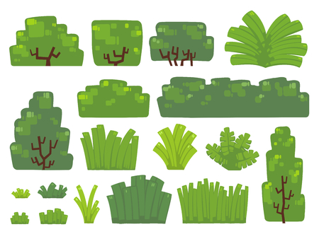 Set of trees and bushes in minimal design