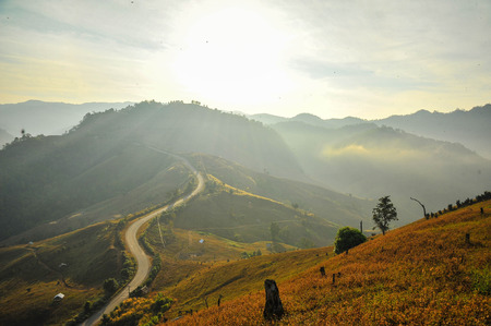 ascetic: mountain in thailand Stock Photo