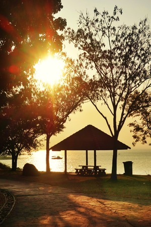 bourn: Sunset Boat Shelter