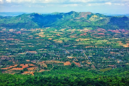 lanscape: lanscape view from top of the mountain cliff Stock Photo