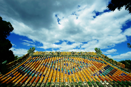 top: colorful ancient roof top