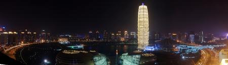 Night view of Zhengzhou Henan Province, China