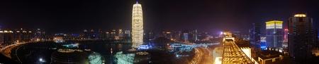 Night view in Zhengzhou Henan Province, China Editorial