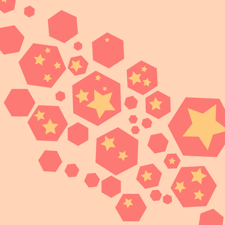 abstracted: hexagon with star shape inside background