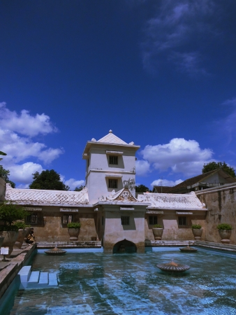 a bathing place: tirta tamansari is bathing place for sultan family in the past, placed in Yogyakarta, Indonesia Editorial