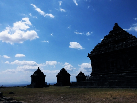 jogjakarta: Candi Ijo, hindu temple on the hill, java, near jogjakarta