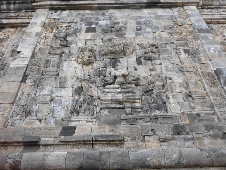 Mendut temple ornament , Magelang, central java Indonesia photo