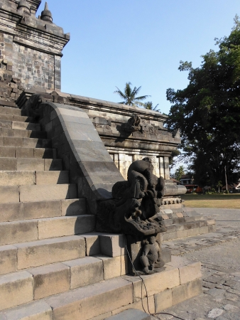 stair ornament in Temple, Magelang, Indonesia photo
