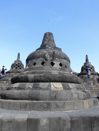 borobudur, biggest budhist temple placed in indonesia