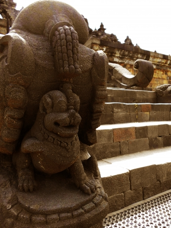stair ornament of borobudur temple photo