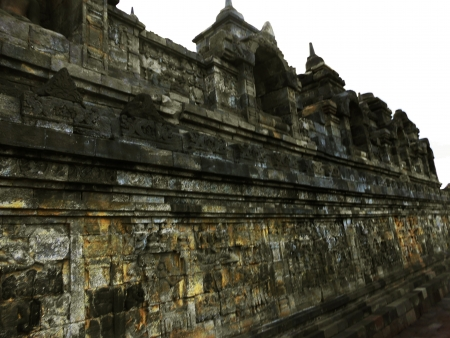 ornament of borobudur temple photo