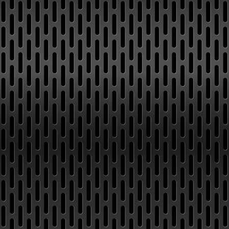 Metal grid surface. Metallic mesh texture background with reflections. Steel industrial structure Vector Illustratie