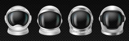 Astronaut helmets, realistic cosmonaut mask set with clear glass for space exploration