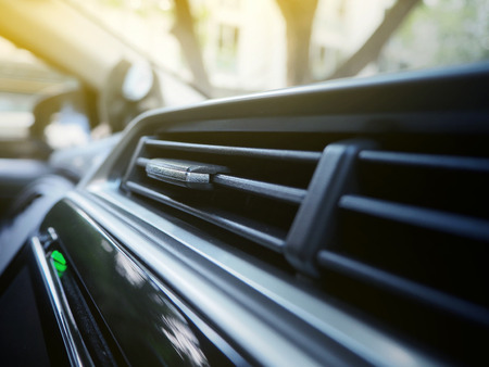 Close up of Automobile air conditioning Imagens